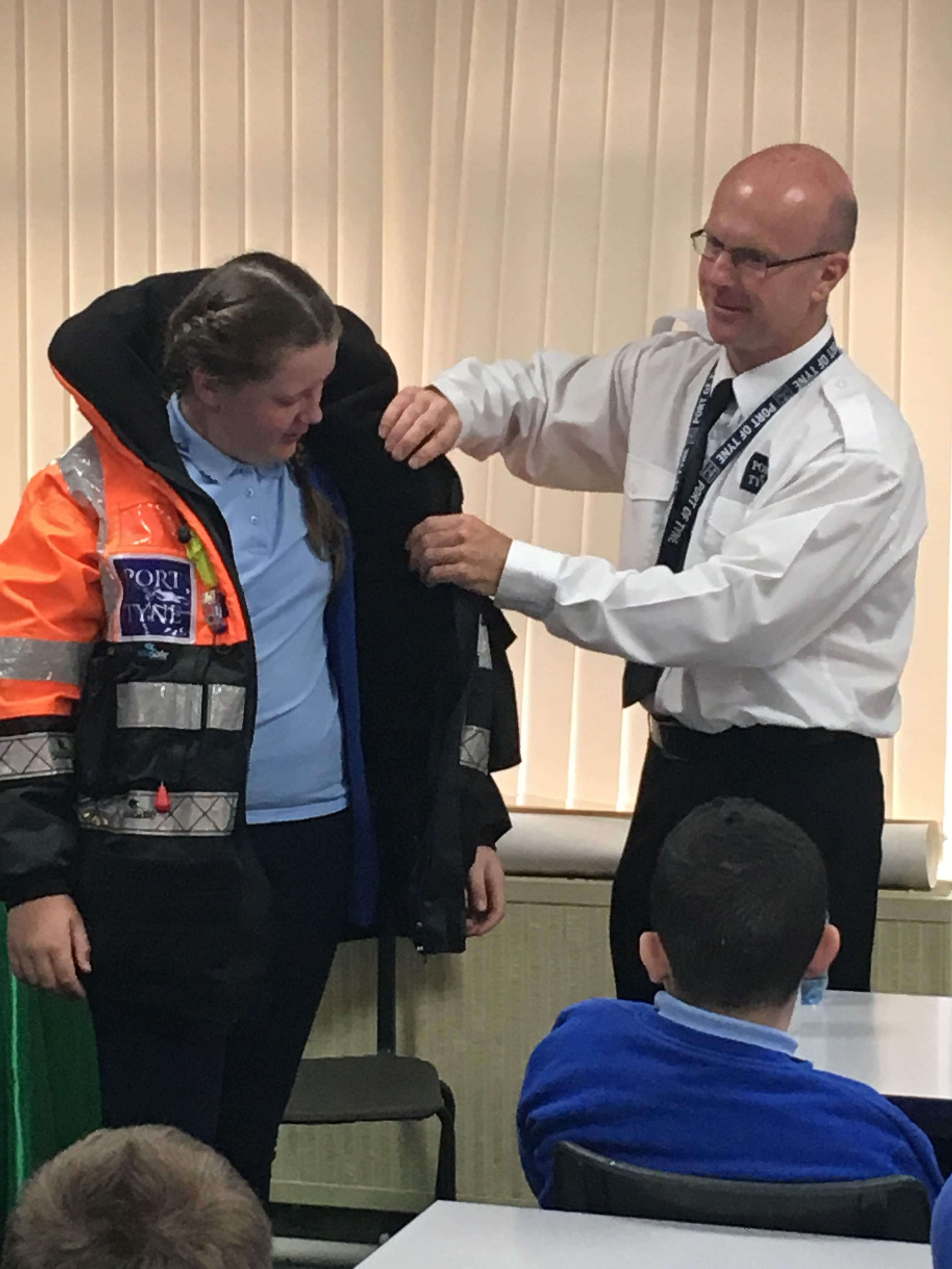 Visit from a Marine Pilot | St Lawrence's RC Primary School
